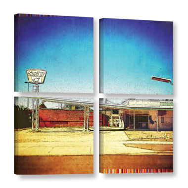 Brushstone Fuel 4-pc. Gallery Wrapped Canvas Square Set