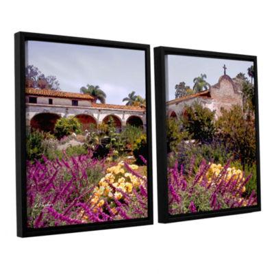 Brushstone Gardens of Mission San Juan Capistrano2-pc. Floater Framed Canvas Set