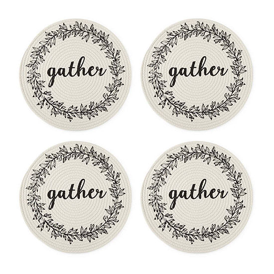 JCPenney Home Gather Wreath 4-pc. Placemat
