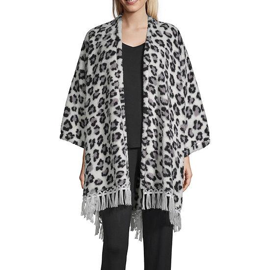 Pj Couture Womens Microfleece Long Sleeve Short Length Kimono Robes