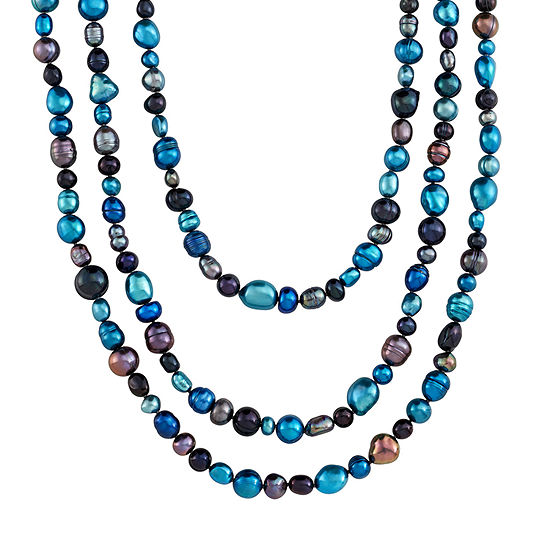 Honora Legacy Womens Dyed Multi Color Cultured Freshwater Pearl Pendant Necklace