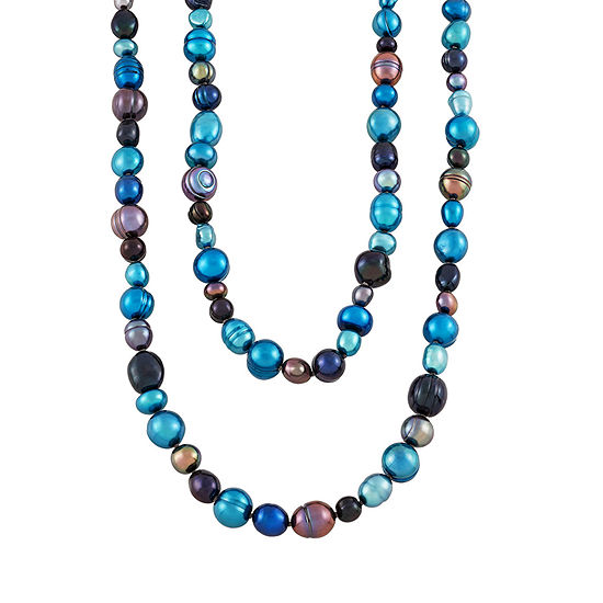 Honora Legacy Womens 11MM Dyed Multi Color Cultured Freshwater Pearl Strand Necklace