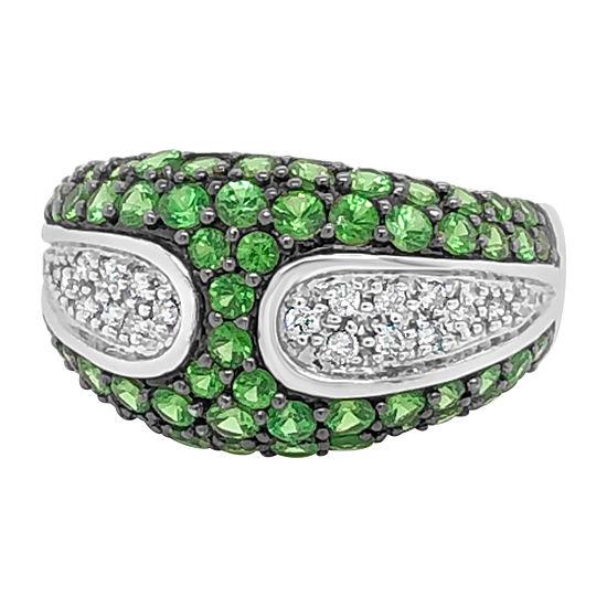 Le Vian Grand Sample Sale™ Ring featuring Forest Green Tsavorite™ Vanilla Diamonds® set in 14K Vanilla Gold®