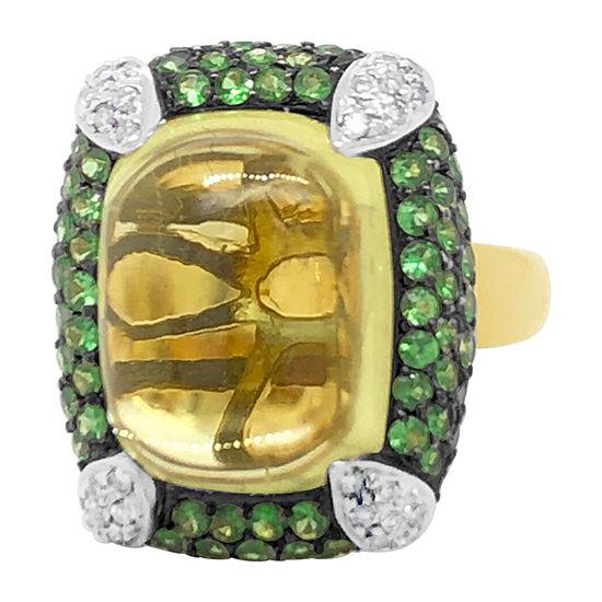 Le Vian Grand Sample Sale™ Ring featuring Lemon Quartz Granite Vanilla Diamonds® set in 18K Honey Gold™
