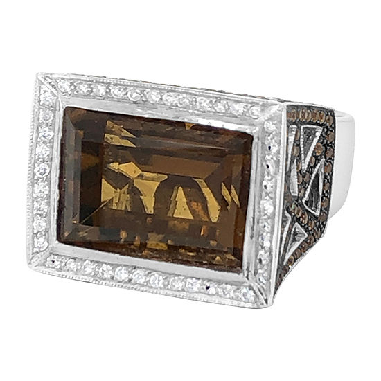 Le Vian Grand Sample Sale™ Ring featuring Caramel Quartz™ Spessartite Vanilla Diamonds® set in 18K Vanilla Gold®