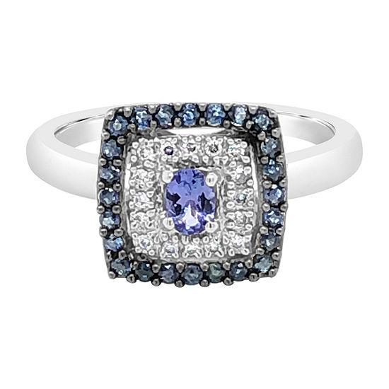 Le Vian Grand Sample Sale™ Ring featuring Blueberry Tanzanite® Blueberry Sapphire™ Vanilla Diamonds® set in 14K Vanilla Gold®