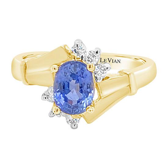 Le Vian Grand Sample Sale™ Ring featuring Cornflower Ceylon Sapphire™ set in 14K Honey Gold™