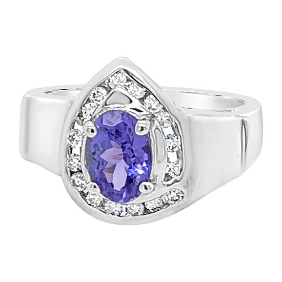 Le Vian Grand Sample Sale™ Ring featuring Blueberry Tanzanite® set in 18K Vanilla Gold®