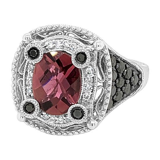 Le Vian Grand Sample Sale™ Ring featuring Passion Fruit Tourmaline™ Black Diamonds Vanilla Diamonds® set in 14K Vanilla Gold®