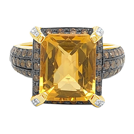 Le Vian Grand Sample Sale™ Ring featuring Cinnamon Citrine® Chocolate Diamonds® Vanilla Diamonds® set in 14K Honey Gold™