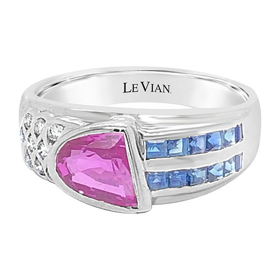 Le Vian Grand Sample Sale™ Ring featuring Bubble Gum Pink Sapphire™ Blueberry Sapphire™ set in 18K Vanilla Gold®