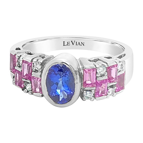 Le Vian Grand Sample Sale™ Ring featuring Blueberry Tanzanite® Bubble Gum Pink Sapphire™ set in 18K Vanilla Gold®