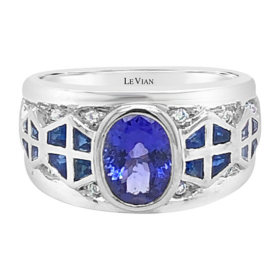 Le Vian Grand Sample Sale™ Ring featuring Blueberry Tanzanite® Blueberry Sapphire™ set in 18K Vanilla Gold®