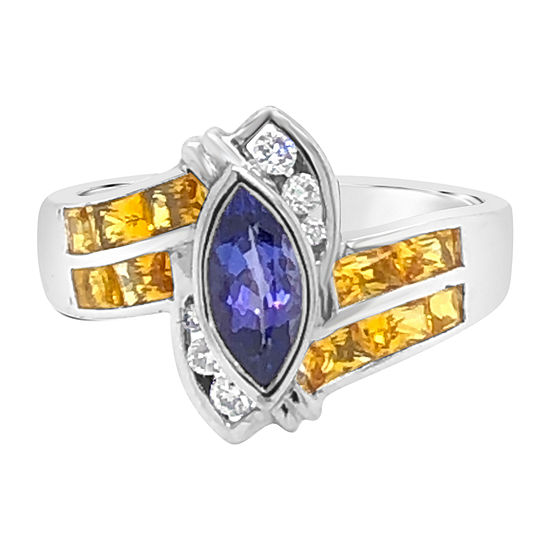 Le Vian Grand Sample Sale™ Ring featuring Blueberry Tanzanite® Yellow Sapphire set in 18K Vanilla Gold®