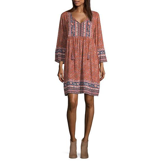Artesia 3/4 Sleeve Peasant Dress