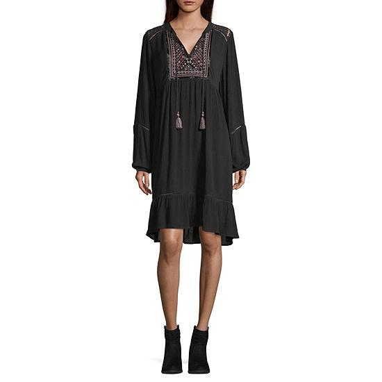 Artesia Long Sleeve Peasant Dress