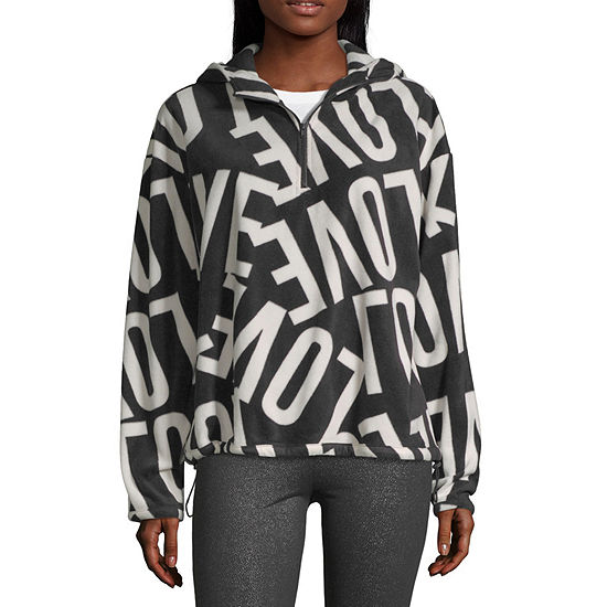 Flirtitude Juniors Womens Hooded Neck Long Sleeve Sweatshirt