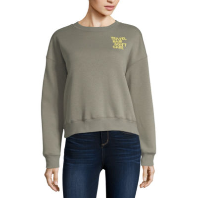 Arizona Juniors Womens Crew Neck Long Sleeve Sweatshirt