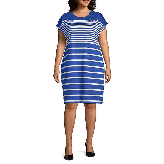 Liz Claiborne SS Breton Dress- Plus