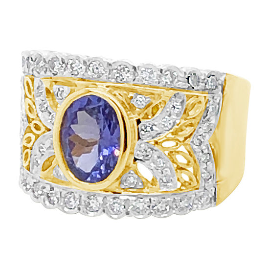 Le Vian Grand Sample Sale™ Ring featuring Blueberry Tanzanite® Vanilla Diamonds® set in 18K Honey Gold™