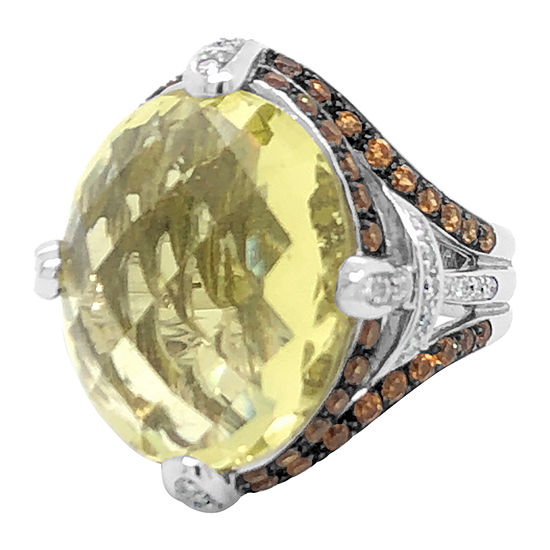 Le Vian Grand Sample Sale™ Ring featuring Lemon Quartz Spessartite Vanilla Diamonds® set in 18K Vanilla Gold®