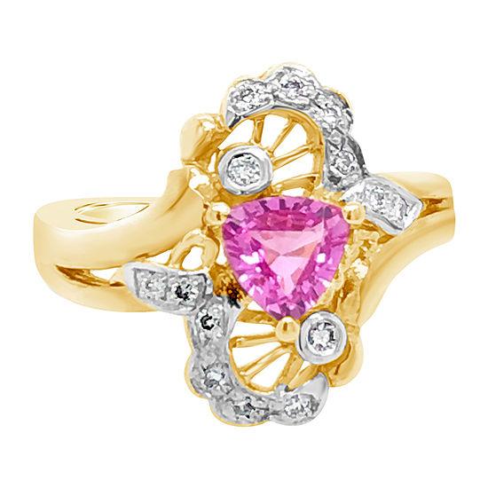 Le Vian Grand Sample Sale™ Ring featuring Bubble Gum Pink Sapphire™ Vanilla Diamonds® set in 14K Honey Gold™