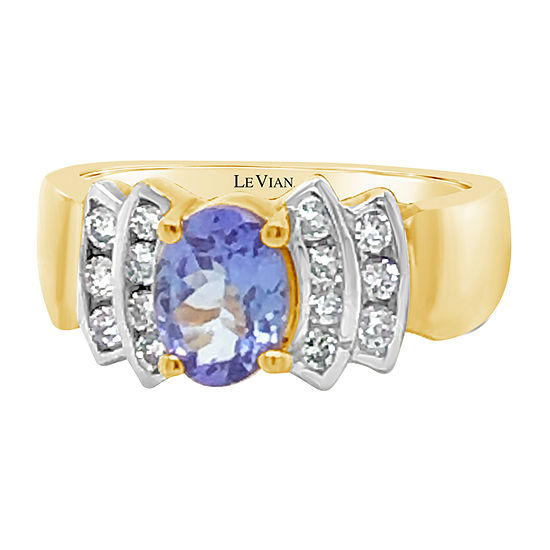 Le Vian Grand Sample Sale™ Ring featuring Blueberry Tanzanite® Nude Diamonds™ set in 14K Honey Gold™
