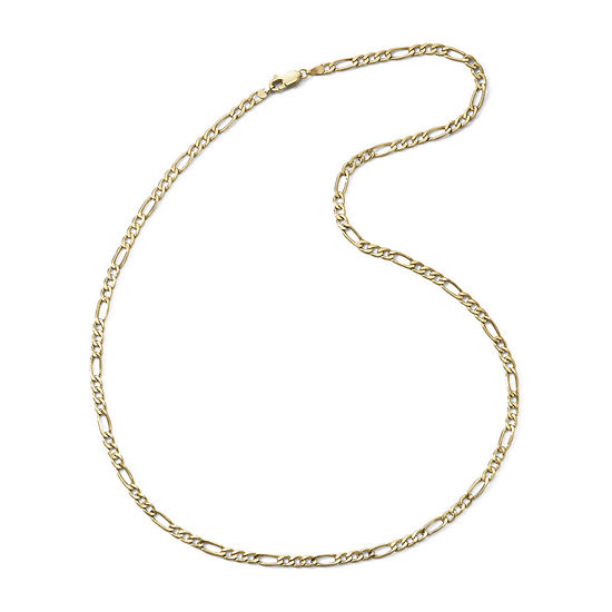 "10K Yellow Gold 3.9mm 20-22"" Hollow Figaro Chain"