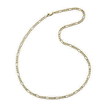 10k Yellow Gold 3 9mm 20 22 Hollow Figaro Chain Jcpenney