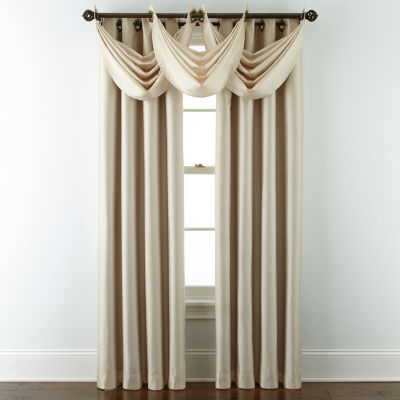 JCPenney Home Plaza Grommet-Top Lined Blackout Curtain Panel