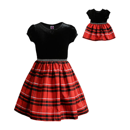 Dollie And Me Dollie And Me Girls Short Sleeve Cap Sleeve Dress Set - Preschool / Big Kid