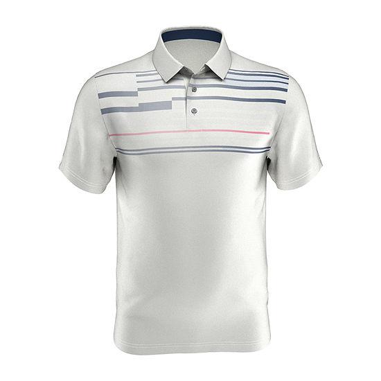PGA TOUR Mens Y Neck Short Sleeve Polo Shirt