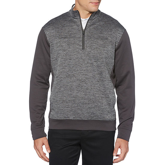 PGA TOUR Mens Crew Neck Long Sleeve Quarter-Zip Pullover