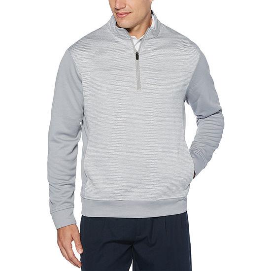 PGA TOUR Mens Crew Neck Long Sleeve Quarter-Zip Pullover