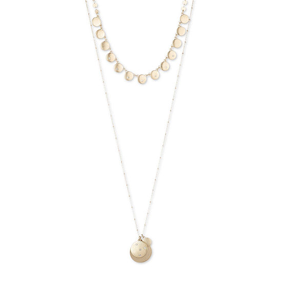 a.n.a. 28 Inch Bead Pendant Necklace