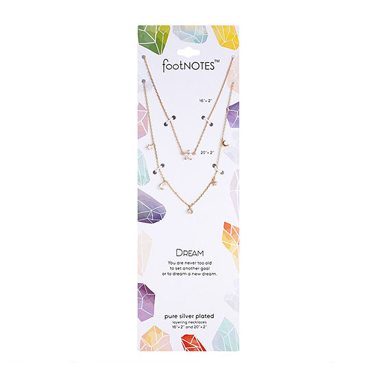 Footnotes 2-pc. Cubic Zirconia 16 Inch Link Star Pendant Necklace