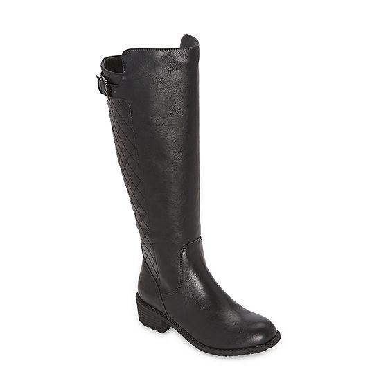 St. John's Bay Womens Duluth Riding Block Heel Wide Width Boots