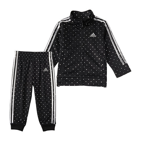 adidas Little Girls 2-pc. Dots Track Suit