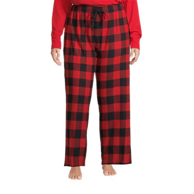 Sleep Chic Womens-Plus Flannel Pajama Pants