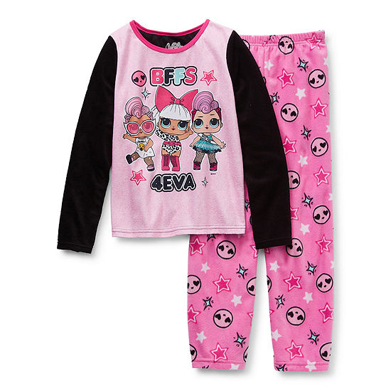 Little & Big Girls 2-pc. LOL Pant Pajama Set