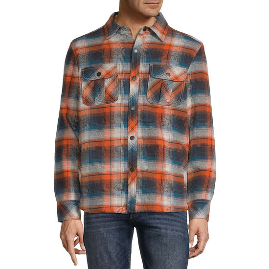 St. John's Bay Outdoor Brushed Sherpa Lined Twill Midweight Shirt Jacket