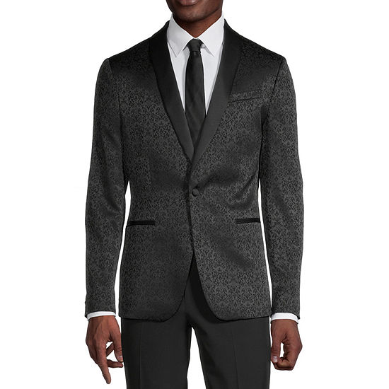 JF J.Ferrar Evening Edition Mens Jacquard Stretch Sport Coat