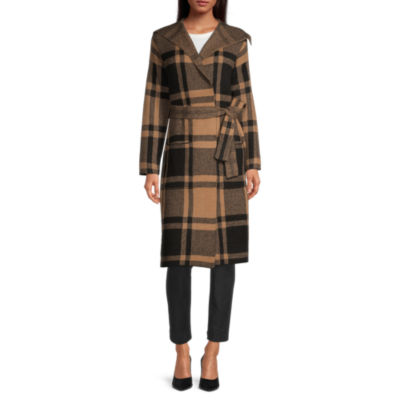 Liz Claiborne Womens Long Sleeve Plaid Cardigan