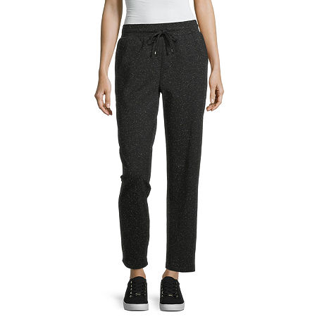 Liz Claiborne Womens Mid Rise Straight Drawstring Pants, X-small , Black