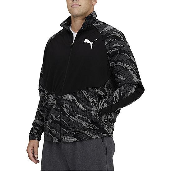 Puma Contrast Mens Big and Tall Lightweight Track Jacket