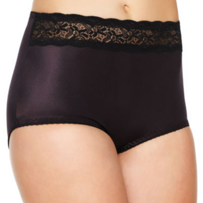 Underscore Rainbow Stretch Satin Lace Trim Light Control Control Briefs 123-3901