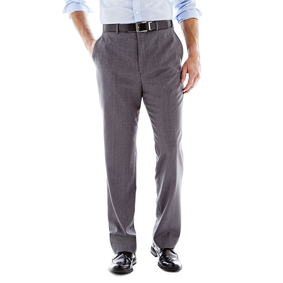 Stafford® Executive Super 100 Wool Flat-Front Suit Pants - Slim Fit