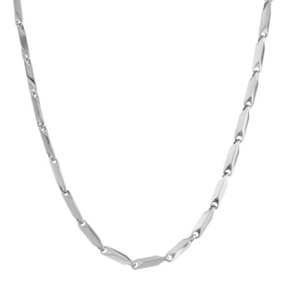 "Mens Stainless Steel 24"" 3mm Link Chain"