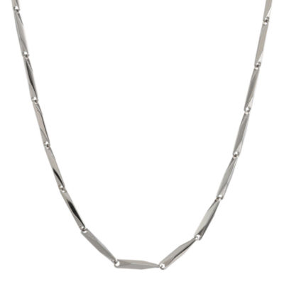"Mens Stainless Steel 22"" 2mm Link Chain"