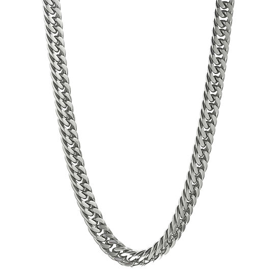"""Mens Stainless Steel 22"""" 9mm Beveled Curb Chain"""